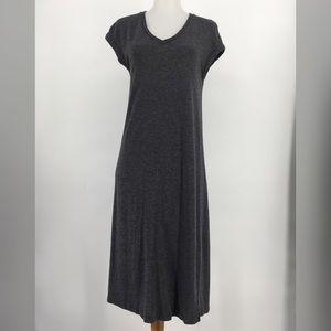 Madewell Horizon Midi Dress Short Sleeve Knit Gray